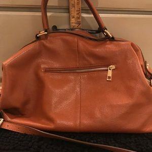 Tan/brown leather handbag